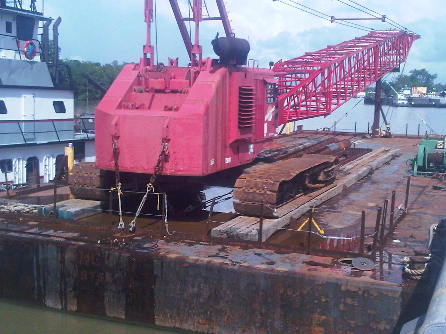crane barges for sale sun machinery corp rh sunmachinery com Manitowoc 4100 Crawler Crane Manitowoc 4100 Tower Crane